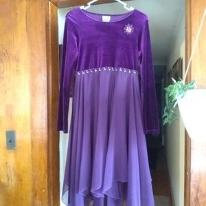 Brooke Lindsay Girls Purple Formal Dress